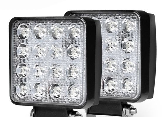 48W Square LED Light Pods Spot , Power Light Work Light Power Saving
