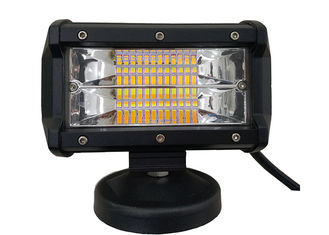 72 Watt 5 Inch LED Strobe Light Bar / Amber And White Strobe Light Bar