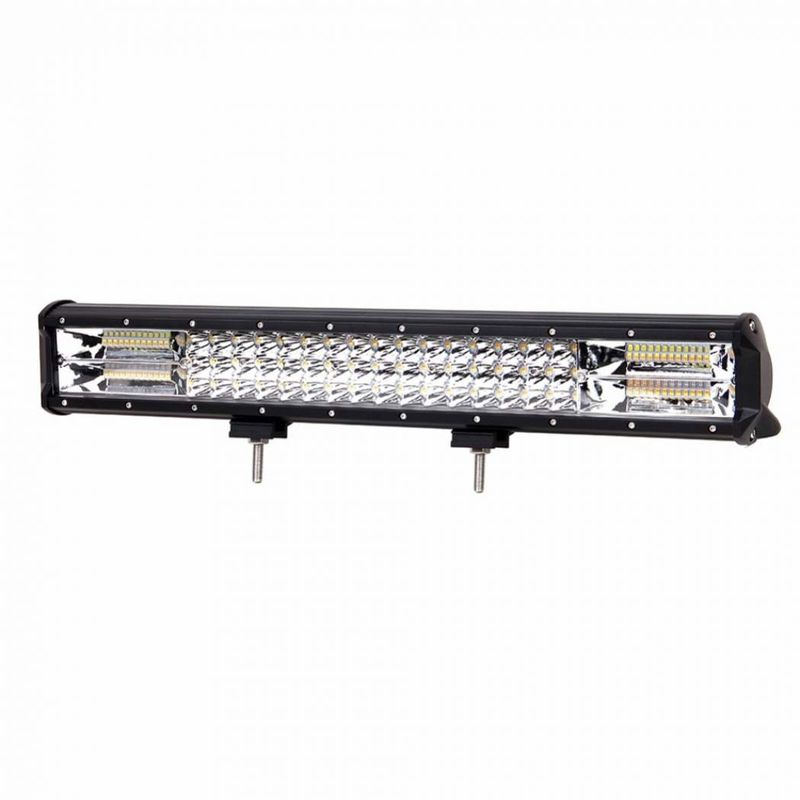 Amber 3 Row Off Road Led Light Bar Strobe Dual Color 20'' 288W With 5 Lighting Models