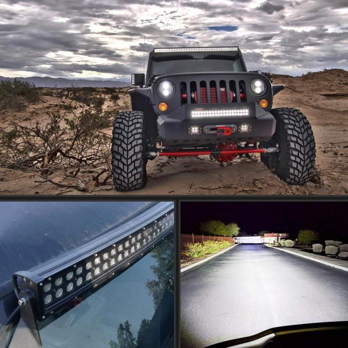 Curved 32Inch 12600LM LED Work Light Bar Combo Beam For Truck SUV Jeep Offroad